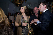 IMMODESY BLAIZE;  ANDREW SUTTON;, Launch of Stephanie Theobald's book' A Partial Indulgence'  drinks provided by Ruinart champage nd Snow Queen vodka. The Artesian at the Langham, 1c Portland Place, Regent Street, London W1
