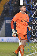 Bradford City Goalkeeper, Ben Williams watches a ball go wide during the The FA Cup third round match between Bury and Bradford City at Gigg Lane, Bury, England on 9 January 2016. Photo by Mark Pollitt.