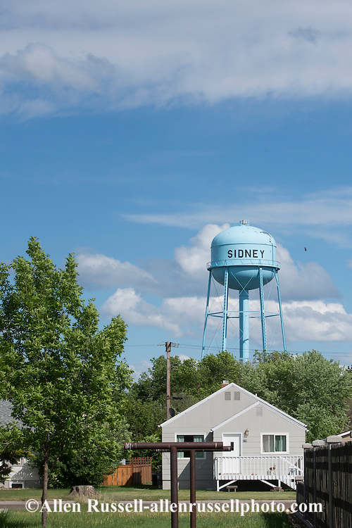 Sidney Montana, downtown, water tower