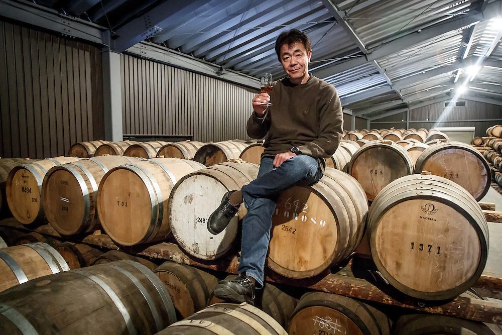 Chichibu Distillery founder Ichiro Akuto samples whisky at Chichibu Distillery in Chichibu, Saitama Prefecture, Japan, November 4, 2015. Gary He/DRAMBOX MEDIA LIBRARY