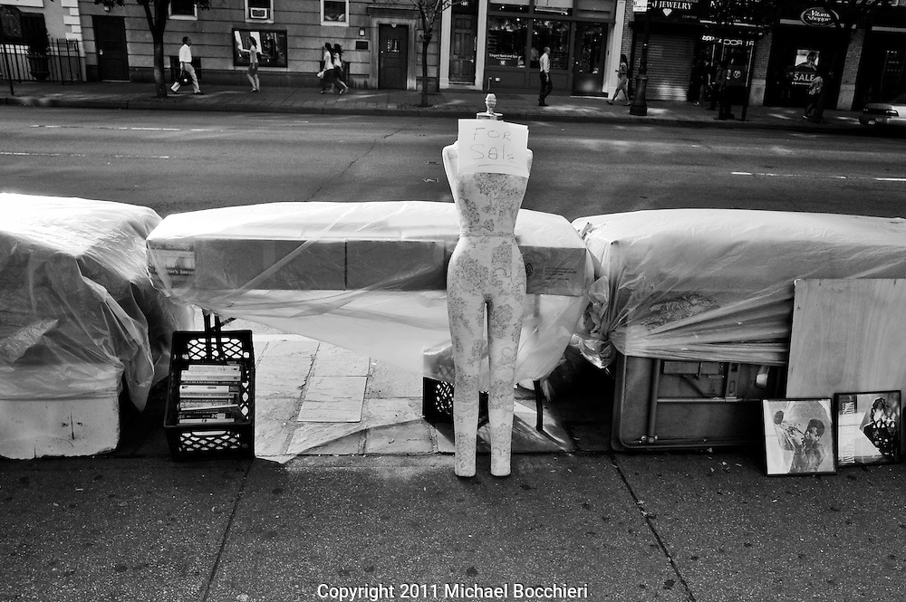 NEW YORK, NY - July 06:  A mannequin is for sale on the sidewalk on July 06, 2011 in NEW YORK, NY.  (Photo by Michael Bocchieri/Bocchieri Archive)