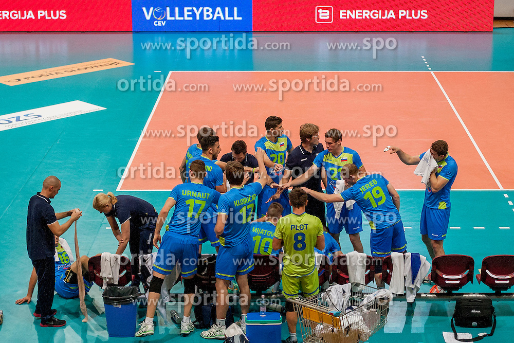 Team Slovenia before volleyball match between National Teams of Slovenia and FRY Macedonia of 2014 CEV Volleyball European League Man - Pool B, on July 5, 2014, in Arena Ljudski vrt Lukna, Maribor, Slovenia, Slovenia. Photo by Urban Urbanc / Sportida