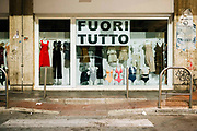 Chinese clothing store in Bari on 26 August 2019. Christian Mantuano / OneShot