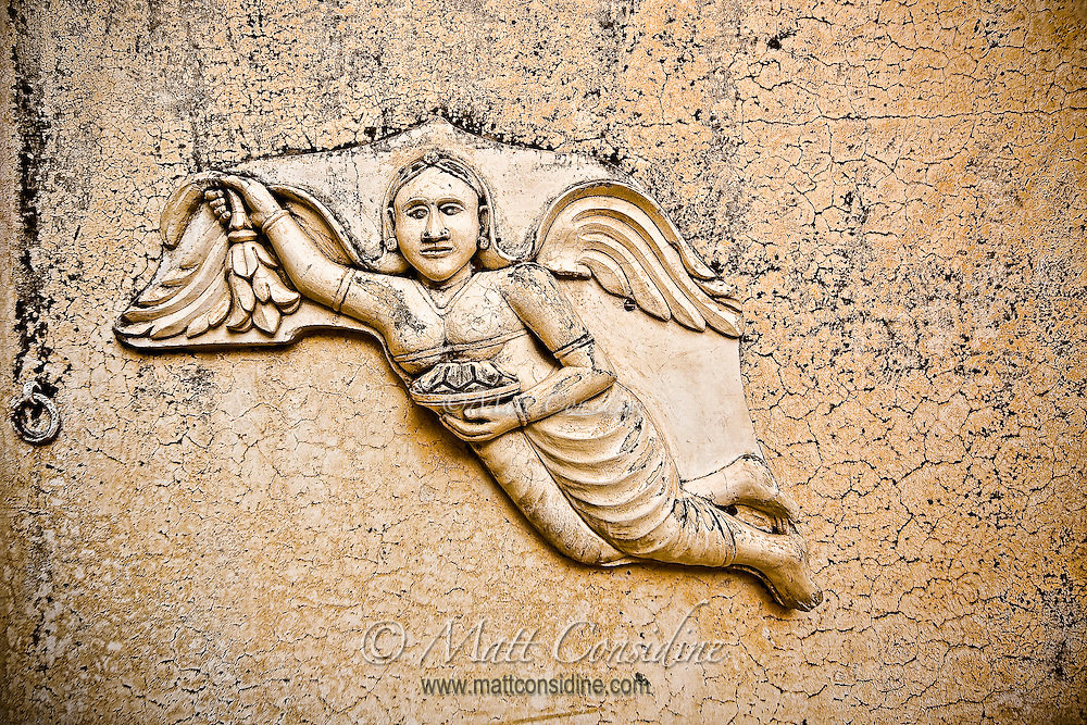 This Christian angel seemed strangely out of place in an old Indian Palace.<br /> (Photo by Matt Considine - Images of Asia Collection)