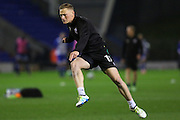 Scunthorpe United midfielder Sam Mantom (17) warms up before the EFL Sky Bet League 1 match between Oldham Athletic and Scunthorpe United at Boundary Park, Oldham, England on 18 October 2016. Photo by Simon Brady.
