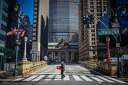 March 24, 2020, New York, New York, USA: Movement at the Grand Central Terminal in Manhattan during the Coronavirus Pandemic COVID-19 in New York in the United States. (Credit Image: © Vanessa Carvalho/ZUMA Wire)