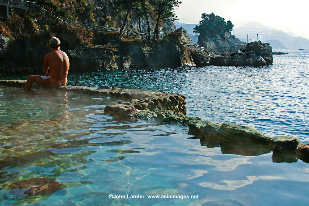 Komatsu Onsen Rotemburo, Izu Hot spring or onsen bathing is a popular form of entertainment and relaxation for the Japanese.
