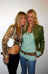 Left to right, ADELA KING and Swimwear designer MELISSA ODABASH at a party to celebrate the opening of an exhibition of photographs by the late Norman Parkinson held at Hamiltons gallery, 13 Carlos Place, London W1 on 14th September 2004.<br /><br />NON EXCLUSIVE - WORLD RIGHTS
