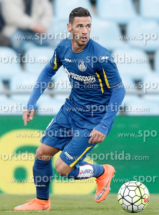 27.02.2016, Estadio Balaidos, Vigo, ESP, Primera Division, Getafe CF vs RC Celta, 26. Runde, im Bild Getafe's Alvaro vazquez // during the Spanish Primera Division 26th round match between Getafe CF and RC Celta at the Estadio Balaidos in Vigo, Spain on 2016/02/27. EXPA Pictures &copy; 2016, PhotoCredit: EXPA/ Alterphotos/ Acero<br /> <br /> *****ATTENTION - OUT of ESP, SUI*****