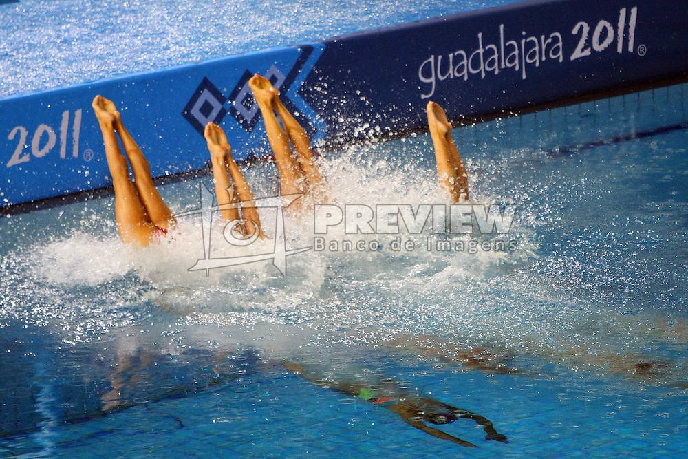 Equipe brasileira do nado sincronizado nas eliminatórias dos jogos Pan-Americanos de Guadalajara 2011. FOTO: Jefferson Bernardes/Preview.com