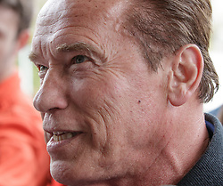 23.03.2017, Sporthotel Royer, Schladming, AUT, Special Olympics 2017, Wintergames, Arnold Schwarzenegger besucht die Spiele, im Bild Arnold Schwarzenegger, der lacht, Porträt // during the Special Olympics World Winter Games Austria 2017 in Schladming, Austria on 2017/03/23. EXPA Pictures © 2017, PhotoCredit: EXPA / Martin Huber
