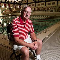 Hawken swim coach Jerry Holtrey