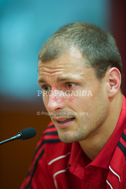 LIVERPOOL, ENGLAND - Tuesday, July 27, 2010: Liverpool FC's new signing Milan Jovanovic during a press conference at Anfield. (Pic by David Rawcliffe/Propaganda)