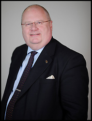 Portrait of Eric Pickles.Member of Parliament for Brentwood and Ongar, London, Tuesday January 12, 201, January 12, 2010. Photo By Andrew Parsons / i-Images.