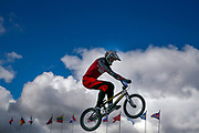 BMX Qualification, Helvijs Babris (Lithuania) during the Cycling European Championships Glasgow 2018, at Glasgow BMX Centre, in Glasgow, Great Britain, Day 9, on August 10, 2018 - Photo luca Bettini / BettiniPhoto / ProSportsImages / DPPI<br /> - Restriction / Netherlands out, Belgium out, Spain out, Italy out -