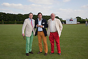 COLIN EMSON; PASCAL DE BARROS; MAJOR CHRISTOPHER HANBURY, The Dalwhinnie Crook  charity Polo match  at Longdole  Polo Club, Birdlip  hosted by the Halcyon Gallery. . 12 June 2010. -DO NOT ARCHIVE-© Copyright Photograph by Dafydd Jones. 248 Clapham Rd. London SW9 0PZ. Tel 0207 820 0771. www.dafjones.com.