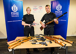 Pictured: PC Emma Black and Assistant Chief Constable Mark Williams <br /> Assistant Chief Constable Mark Williams today unveiled details of the three-week drive along with the designated stations where unwanted weapons can be handed in for secure disposal. <br /> <br /> Ger Harley | EEm 19 May  2016