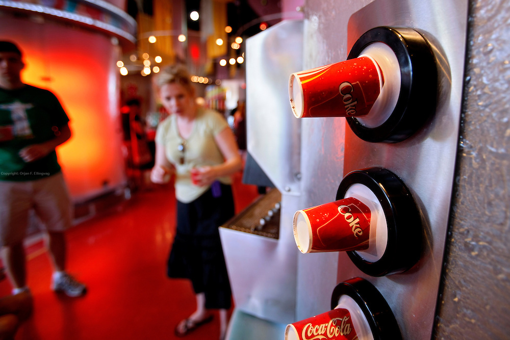 Orlando, Florida, USA, 20090325:   The Disney EPCOT Center in Orlando. Free soft drinks from all over the world are served by Coca Cola at the Universe of Energy. Photo: Orjan F. Ellingvag/ Dagbladet/ Corbis