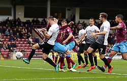 Andrew Hughes of Peterborough United scores the opening goal of the game - Mandatory by-line: Joe Dent/JMP - 21/10/2017 - FOOTBALL - Glanford Park - Scunthorpe, England - Scunthorpe United v Peterborough United - Sky Bet League One