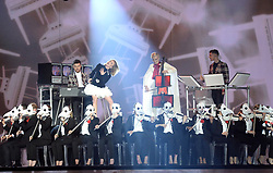 Clean Bandit with Zara Larsson on stage during the MTV Europe Music Awards 2017 held at The SSE Arena, London. Photo credit should read: Doug Peters/EMPICS Entertainment