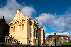 View of Great Hall inside Stirling Castle in Stirling, Scotland, United Kingdom.