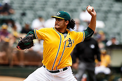OAKLAND, CA - MAY 04: Sean Manaea #55 of the Oakland Athletics pitches against the Seattle Mariners during the third inning at the Oakland Coliseum on May 4, 2016 in Oakland, California. (Photo by Jason O. Watson/Getty Images) *** Local Caption *** Sean Manaea