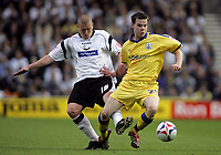 Photo: Paul Thomas.<br /> Derby County v Southampton. Coca Cola Championship. Play Off Semi Final, 2nd Leg. 15/05/2007.<br /> <br /> Seth Johnson (L) of Derby fouls Danny Guthrie.