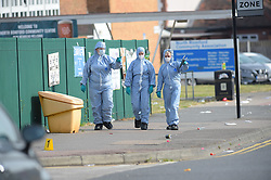 © Licensed to London News Pictures. 24/06/2018. London UK:  Police and Forensic officers outside a community centre in Clockhouse Lane in Romford, east London where a fifteen year old male was found with fatal stab wounds around 9 pm on Saturday evening. Police have arrested three teenagers in connectiion with the stabbing, Photo credit: Steve Poston/LNP