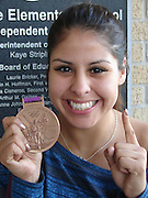 •	Park Place Elementary School students met Olympian boxer Marlen Esparza recently when she came to her nieces' campus to surprise them with a visit. Marlen, who took home the bronze medal in the 2012 London game, said that she will begin training for the 2016 Olympics later this year.