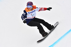 COURY Brittani USA competing in ParaSnowboard, Snowboard Banked Slalom at  the PyeongChang2018 Winter Paralympic Games, South Korea.