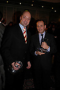 Tomasin Thierry and Pierre Baldelli. The Tatler Restaurant Awards in association with  Louis Roederer champagne.  The Four Seasons Hotel, Hamilton Place, London. 10 January 2004. ONE TIME USE ONLY - DO NOT ARCHIVE  © Copyright Photograph by Dafydd Jones 66 Stockwell Park Rd. London SW9 0DA Tel 020 7733 0108 www.dafjones.com
