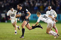 Jamie Roberts of Bath Rugby goes on the attack - Mandatory byline: Patrick Khachfe/JMP - 07966 386802 - 06/12/2019 - RUGBY UNION - The Recreation Ground - Bath, England - Bath Rugby v Clermont Auvergne - Heineken Champions Cup