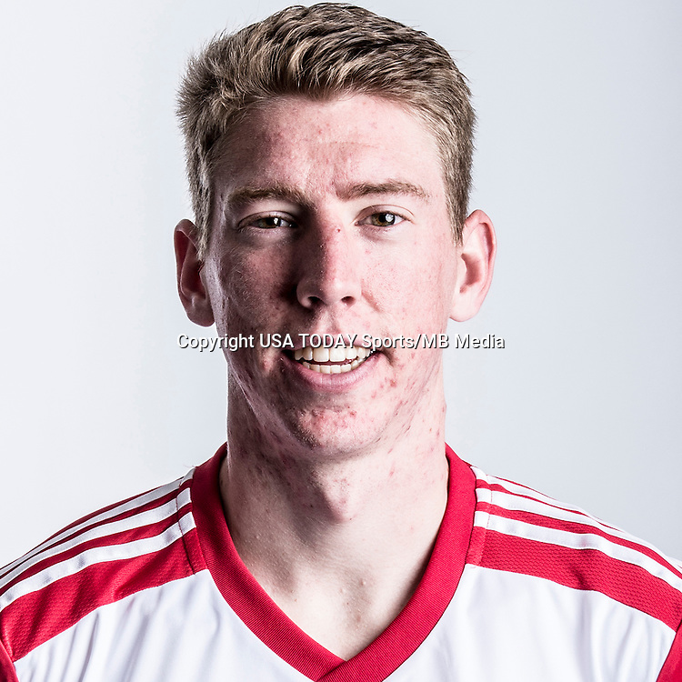 Feb 25, 2016; USA; New York Red Bulls player Scott Thomsen poses for a photo. Mandatory Credit: USA TODAY Sports