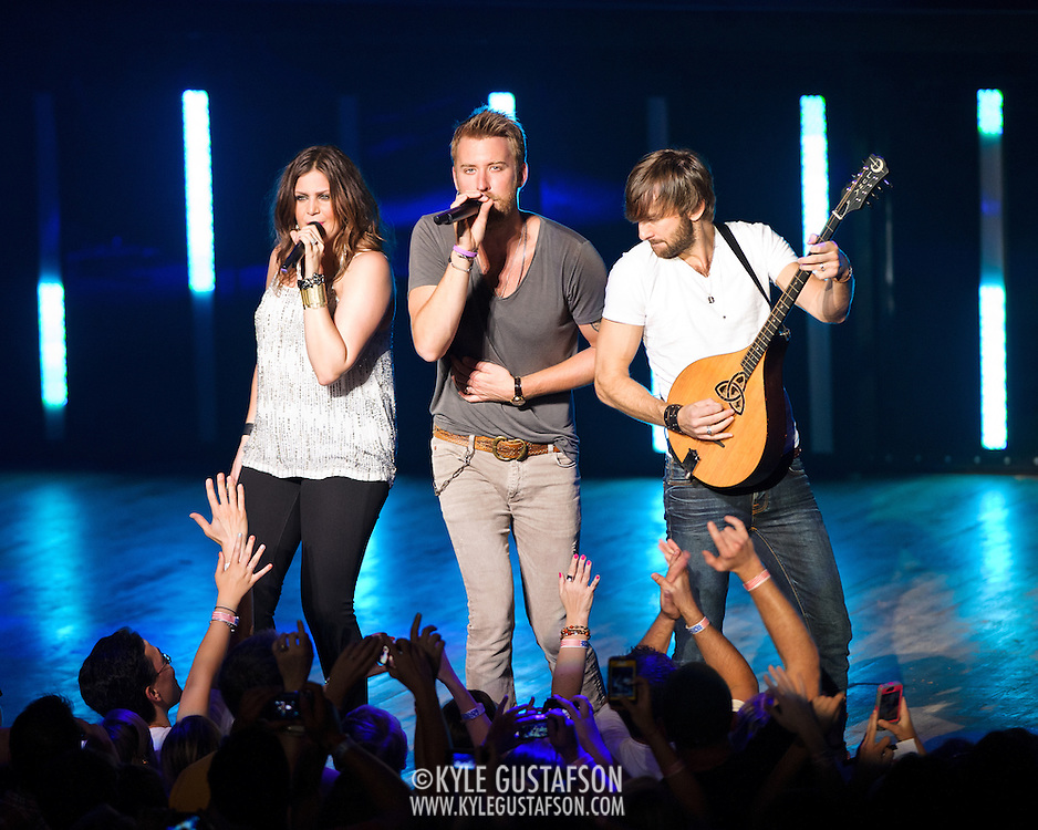 COLUMBIA, MD -  May 20th, 2012 - Grammy Award-winning group Lady Antebellum perform to a packed house at Merriweather Post Pavilion in COlumbia, MD.  The group's last album, We Own The Night, reached #1 on the US Billboard 200. (Photo by Kyle Gustafson/For The Washington Post)