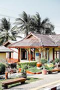 Passing small train station, Thailand. Eastern & Oriental Train