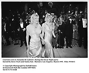 Courtney Love &amp; Amanda de Cadenet  during the Oscar Night party hosted by Steve Tisch and Vanity Fair. Morton's. Los Angeles. March 1995. 95549/3<br />