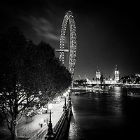 South Bank, london Eye and Houses of Parliament, London, uk