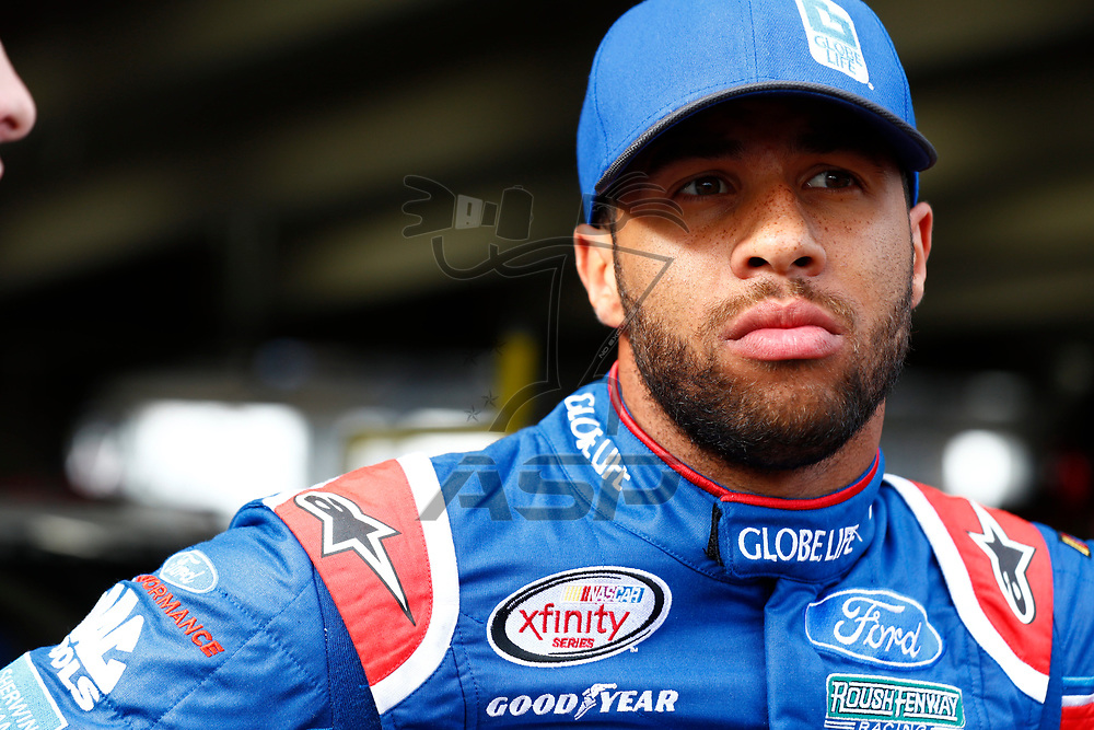 May 25, 2017 - Concord, NC, USA: Darrell Wallace Jr (6) hangs out in the garage during practice for the Hisense 4K TV 300 at Charlotte Motor Speedway in Concord, NC.