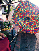 Fruit vendor's umbrella