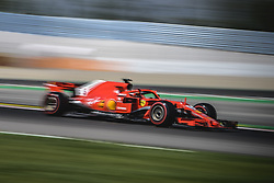 May 11, 2018 - Barcelona, Catalonia, Spain - SEBASTIAN VETTEL (GER) drives during the second practice session of the Spanish GP at Circuit de Catalunya in his Ferrari SF-71H.  (Credit Image: © Matthias Oesterle via ZUMA Wire)