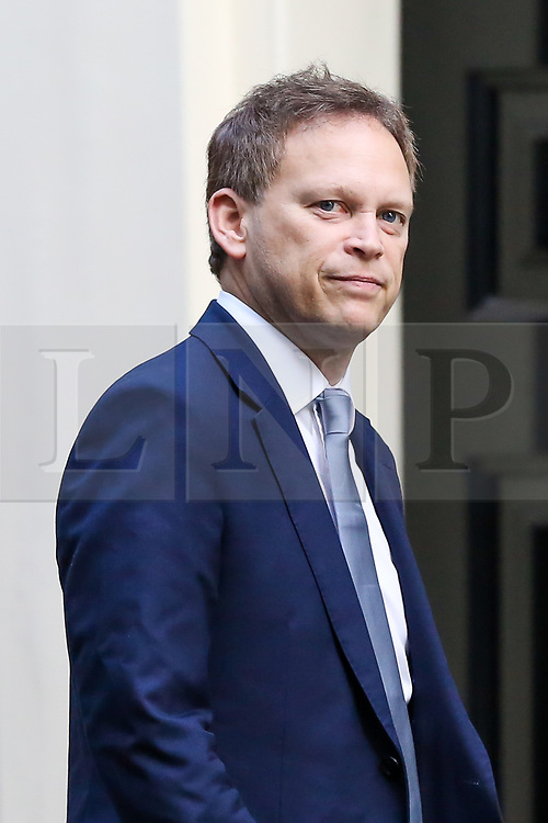 © Licensed to London News Pictures. 22/10/2019. London, UK. Secretary of State for Transport GRANT SHAPPS arrives in Downing Street to attend the weekly cabinet meeting. Photo credit: Dinendra Haria/LNP