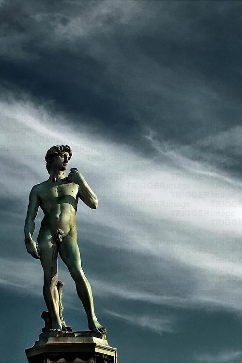 Michelangelo's David sculpture in Florence