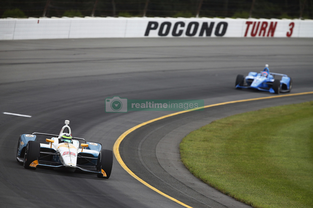 August 19, 2018 - Long Pond, Pennsylvania, United Stated - CONOR DALY (88) of the United States take to the track for the ABC Supply 500 at Pocono Raceway in Long Pond, Pennsylvania. (Credit Image: © Chris Owens Asp Inc/ASP via ZUMA Wire)