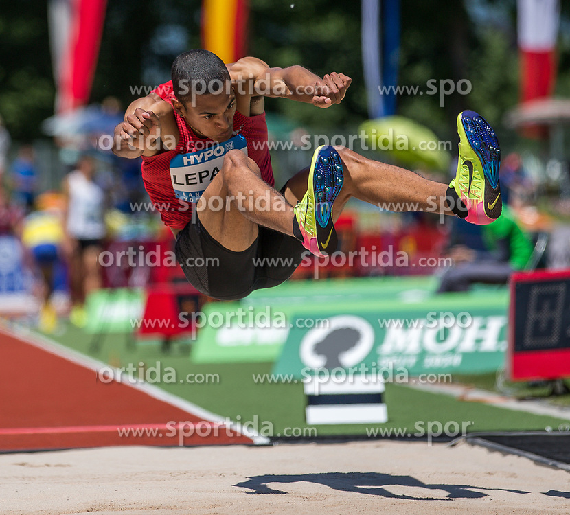28.05.2017, Moeslestadion, Goetzis, AUT, 43. Hypo Meeting Goetzis, im Bild Pierce Lepage (CAN) beim Weitsprung // Pierce Lepage of Canada during the 43rd Hypo Athletics Meeting at the Moeslestadion in Goetzis, Austria on 2017/05/28. EXPA Pictures © 2017, PhotoCredit: EXPA/ Peter Rinderer