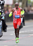 Mo Farah aka Mohamed Farah (GBR) places fifth in 2:05:29 at the 39th London Marathon in London, Sunday, April 28, 2019. (Jiro Mochizuki/Image of Sport)