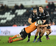 Ospreys' Ashley Beck in action today<br /> <br /> Photographer Mike Jones/Replay Images<br /> <br /> Guinness PRO14 Round Round 16 - Ospreys v Cheetahs - Saturday 24th February 2018 - Liberty Stadium - Swansea<br /> <br /> World Copyright © Replay Images . All rights reserved. info@replayimages.co.uk - http://replayimages.co.uk