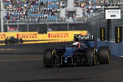 10.10.2014, Sochi Autodrom, Sotschi, RUS, FIA, Formel 1, Grosser Preis von Russland, Training, im Bild Kevin Magnussen (DEN) McLaren MP4-29. // during the Practice of the FIA Formula 1 Russia Grand Prix at the Sochi Autodrom in Sotschi, Russia on 2014/10/10. EXPA Pictures © 2014, PhotoCredit: EXPA/ Sutton Images<br /> <br /> *****ATTENTION - for AUT, SLO, CRO, SRB, BIH, MAZ only*****