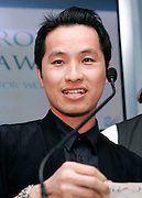 Designer Philip Lim speaks at the 2008 CFDA Fashion Awards Nominee Announcement in the Rooftop Gardens at Rockefeller Center  in New York City, USA on March 10, 2008.