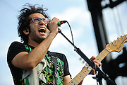 Motion City Soundtrack performing at The Bamboozle in East Rutherford, New Jersey on May 2, 2010.