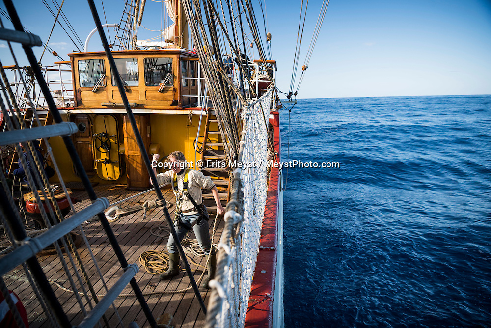 Antarctica, February 2016. Dutch Tallship, Bark Europa, explores Antarctica during a 25 day sailing expedition. Photo by Frits Meyst / MeystPhoto.com